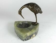 Aschenbecher, Bronze, Onyx, Storch, Wien, XIX Jh.