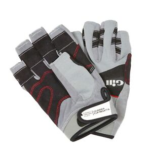 Gill Deckhand Gloves Short Finger Sailing Grip Grey Size L 7042 (889)