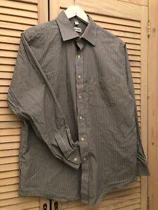 Calvin Klein Long Sleeve Shirt Men 16 32/33 Vintage Couture Heritage Exclusive