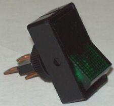 Automotive SPST On Off Green Glow Rocker Switch 40380 / SW-38 Lot Of 2 Ea.