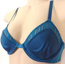 ❤️ She Walks In Beauty TR008F14  Blue NWOT 32C  Demi Underwire Bra 32 C