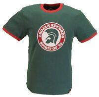 Trojan Records Mens Green Spirit of 69 100% Cotton Peach T-Shirt