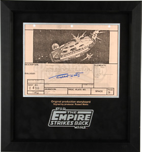 Star Wars -Ep V- ESB Signed Production Storyboard- Falcon Taking Fire (E10)