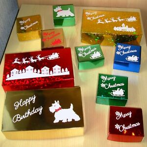 Gift Boxes for All Occasions.Mixed Sizes & Colours. New / Unused.