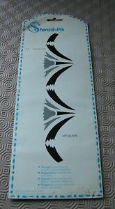 Stencil-itis  precut stencil border design on reusable transparent plastic
