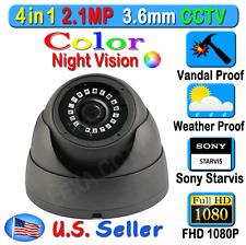 LEXAcctv 4in1 HD Sony Starvis 2.1MP 1080P 3.6mm TVI AHD CVI Analog Dome Camera
