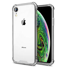 For iPhone X XR XS Max Clear Transparent Hybrid Shockproof Protective Case Cover