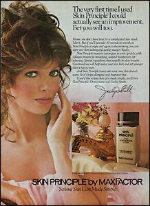 1982 Jaclyn Smith photo Max Factor Skin Principle Face Lotion retro print ad S23
