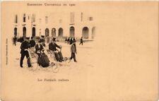 CPA PARIS EXPO 1900 - Les Fauteuils roulants (307311)
