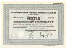 Maschinenfabrik PAschen AG 1939  Köthen Anhalt