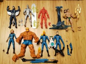 Walgreens Marvel Legends Fantastic Four THING INVISIBLE MAN TORCH SILVER SURFER+