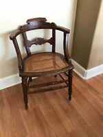 antique wood armchair pre 1900