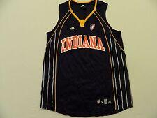 M93 New ADIDAS WNBA Indiana Fever Blue Blank Basketball Jersey Shirt WOMEN'S S T