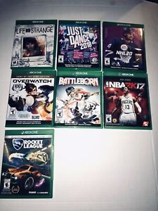 xbox one games lot, Overwatch, NHL 20, Battleborn,rocket league, nba 2k17 dance