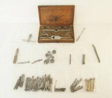 Huge Vintage Machinist Tool Lot SW Card Die Tap Set & More 100+ Pieces Threading