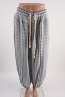 Free People Intimately Womens Harem Joggers Pants XS Blue White Striped Rope tie