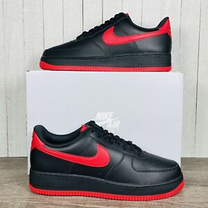 Nike Air Force 1 '07 Bred Black University Red DC2911-001 Men's Size 7.5-14