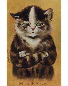 """14252487 10""""x8"""" (25x20cm) Print of Louis Wain cat"""