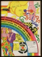 1969 psychedelic art Yellow Pages phone book Party Pak vintage print ad