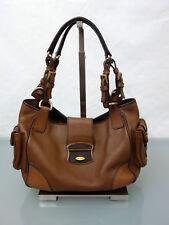 PRADA Designer Leder Tasche Handtasche Schultertasche Leather Bag Braun
