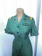 40's/50's Vintage Girl Scout Leader Teenage Woman Uniform Dress S/Med