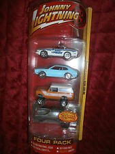 JOHNNY LIGHTNING SET OF 4 CARS 79 INTERNATIONAL SCOUT 93 CHEVY CORVETTE