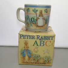 Peter Rabbit ABC Mug In Box Wedgwood Beatrix Potter Made In England First Baby