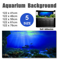 Seabed Wreck PVC HD Aquarium Background Poster Fish Tank Decoration Landscape G