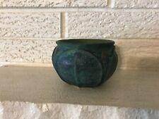 VINTAGE JEMERICK POTTERY MOTTLED GREEN BUDS CABINET VASE