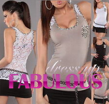 Women's Sleeveless Evening, Occasion Animal Print Regular Tops & Blouses