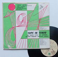 """Vinyle 33T Various (Coleman Hawkins, etc...)   """"Tops in tenor"""" - 25 cm"""