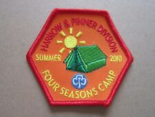 Four Seasons Camp 2010 Summer Girl Guides Cloth Patch Badge L5K C