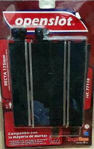 Recta 175mm marca Openslot compatible con Scalextric pista negra