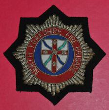 North Yorkshire Fire Brigade bullion wire blazer badge