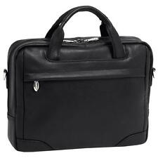 McKleinUSA BRONZEVILLE 15485 Black Leather Medium Laptop Brief