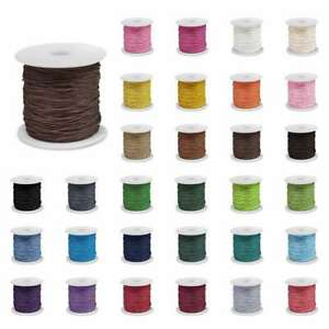 1Roll 80m Waxed Cotton Macrame Cord Jewelry Beading Making String Rope 1/1.5/2mm