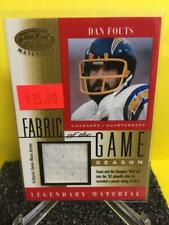 Dan Fouts 2001 Leaf Certified Fabric Of Game-Worn Jersey HOF 57/93 Chargers  DH