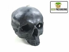 Skull Skeleton Candle Scented Wildberry Reusable Black Life Size