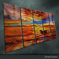 Original Metal Wall Art Large Painting Sculpture Indoor Outdoor Decor by Zenart