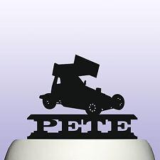 Personalised Acrylic Stock Car Racing Cake Topper Decoration & Keepsake Gift