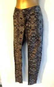 YAYA  40/12 Slim fit patterned jeans/trousers  stretch with pockets (1958