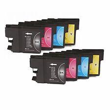 SET 8 compatible GEN NONOEM IMP LC1100 LC980 MFC-5490CN MFC-6890CW HQ LC-980