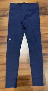 NEW Under Armour UA Women's Authentics Leggings Tight 1368700 Navy Blue Small S