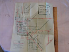 """1959 New York City NY SUBWAY MAP MAP map OFFICIAL*  BROOKLYN Bronx """"in da house"""""""