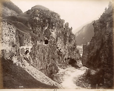 Suisse, Ligne du Gothard, ligne ferroviaire entre Lucerne et Chiasso  Vintage al