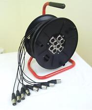 Tambour de câble multicore XLR 8 chaînes 15 m MTC-8 multicœur câble ADAM HALL