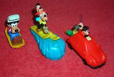 Disney Goofy Goof Troop Lot Of 3 Pull And Go Toy Figure Cake Toppers