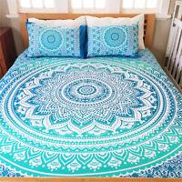Indian Queen Size Bed Sheet Hippie Bohemian Bedding Set Mandala Tapestry Throw