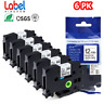 6PK COMPATIBLE FOR Brother P-TOUCH TZ-231 TZE-231 PTD210 LABEL MAKER TAPE 12MM
