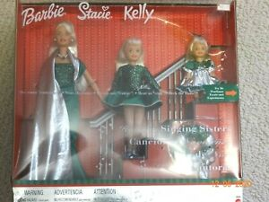 Barbie, HOLIDAY SINGING SISTERS, 3 dolls(kelly,stacie) nrfb 26260, 2000. Dressed